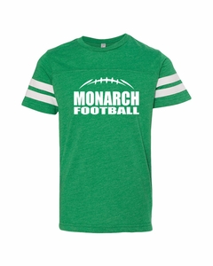 SMA Monarch Football Youth Tee, Vintage Green