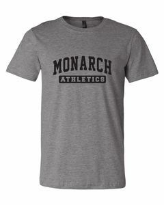 SMA Monarchs Athletics Men's SS Tee, Deep Heather
