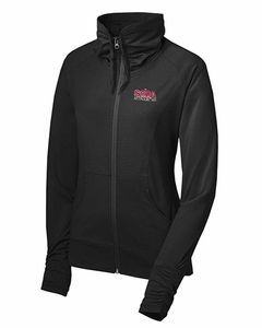 SMA Monarchs Embroidered Ladies Full Zip Jacket Black