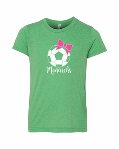 SMA Monarchs Soccer Youth Tee Green Triblend
