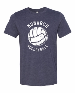 SMA Monarchs Volleyball Men's SS Tee, Midnight Heather