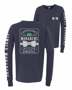 SMA Simply Monarchs Youth LS Tee, Navy