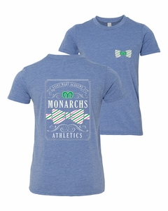 SMA Simply Monarchs Youth SS Tee, Blue Triblend