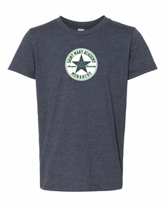 SMA Sneaker Design Youth S/S T-shirt, Heather Navy
