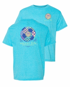 SMA Soccer Life Youth S/S Tee, Heather Carribean Blue