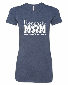 SMA Soccer Mom Tee, Heather Navy