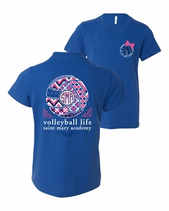 SMA Vollyeball Life Youth SS Tee, Royal