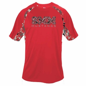 SMM Adult Digi T-Shirt, Camo Performance Red