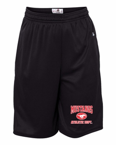 SMM Athletic Department Youth Shorts with Pockets, Black