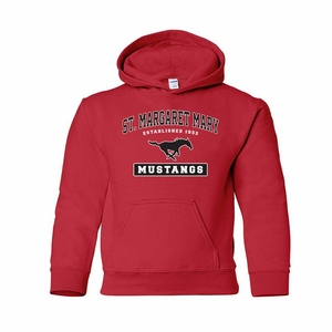 SMM Collegiate design Youth 50/50 Hoodie, red