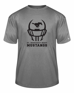 SMM Football Helmet Design Youth S/S Performance T-shirt, Steel Heather