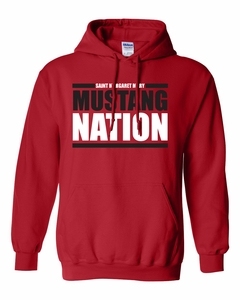 SMM Mustang Nation Adult 50/50 Hoodie, Red