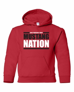 SMM Mustang Nation Youth 50/50 Hoodie, Red
