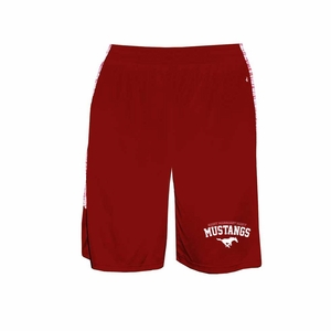 SMM Mustangs Adult Blend Panel Short, red