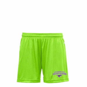 SMM Mustangs Girls Performance Short, lime