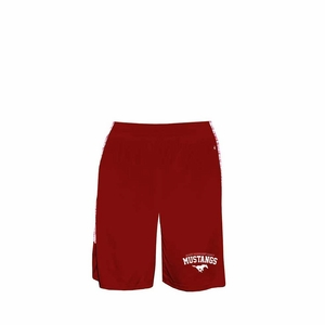 SMM Mustangs Youth Blend Panel Short, red