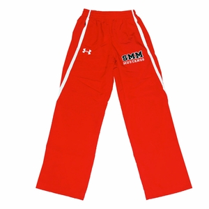 SMM MUSTANGS Youth Under Armour Warmup Pants Red/White