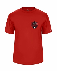 SMM Soccer Adult Performance T-shirt, Red