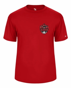 SMM Soccer Youth Performance T-shirt, Red