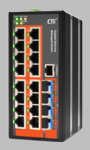 IGS-1604SM, Managed 16-Port Gigabit Switch + 4 SFP Slots