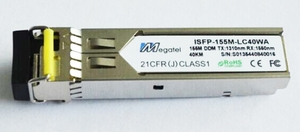 ISFP-155M-LC40WA, Rugged SFP Module for 155M WDM T1310/R1550 and 40Km