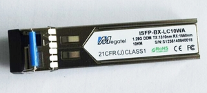 ISFP-BX-LC10WA, Rugged SFP Module for 1.25G WDM T1310/R1550 and 10Km