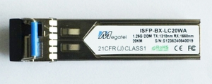 ISFP-BX-LC20WA, Rugged SFP Module for 1.25G WDM T1310/R1550 and 20Km