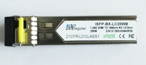 ISFP-BX-LC20WB, Rugged SFP Module for 1.25G WDM T1550/R1310 and 20Km