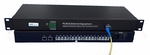 MC-FXO-16 and MC-FXS-16, 16 Channel POTS Phone Lines Over Fiber Converter + one Fast Ethernet Port