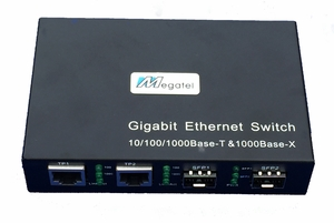 SW-2GT-2SFP, Gigabit Fiber Switch with 2 SFP and 2 Ethernet Ports