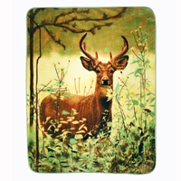 Shavel Hi Pile Oversize Luxury Throw - Standing Deer