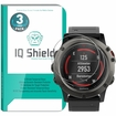 [3-Pack] IQ Shield� Tempered Glass � Garmin Fenix 5x Glass Screen Protector