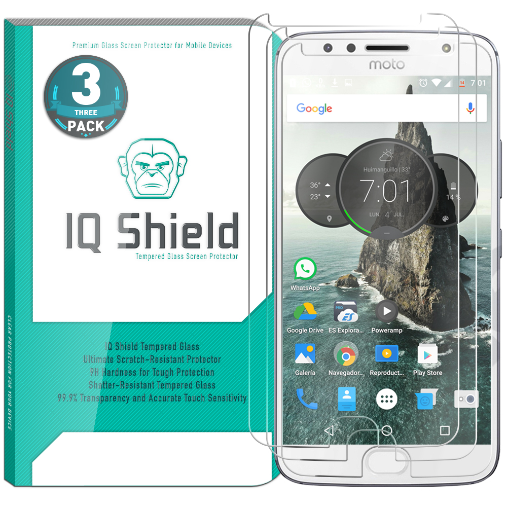[3-Pack] IQ Shield® Tempered Glass – Moto G5s Plus Glass Screen Protector
