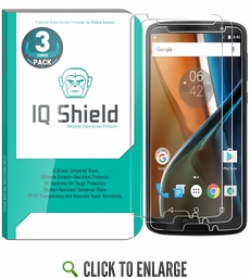 [3-Pack] IQ Shield® Tempered Glass – Moto G6 Glass Screen Protector