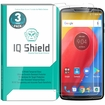 [3-Pack] IQ Shield� Tempered Glass � Moto Z3 Play Glass Screen Protector (Moto Z3 Verizon Version)
