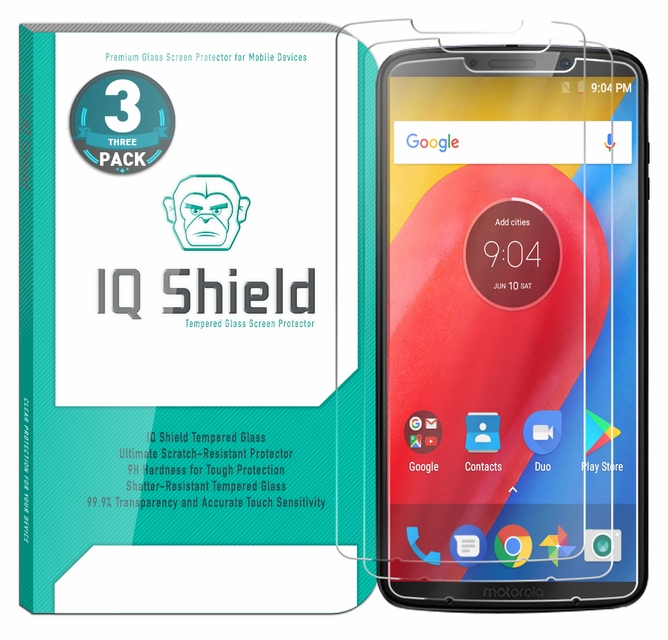 [3-Pack] IQ Shield® Tempered Glass – Moto Z3 Play Glass Screen