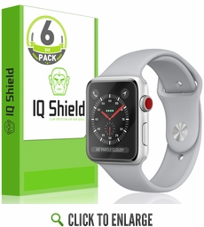 Apple Watch LiQuid Shield Screen Protector (38mm)(Apple Watch Nike+, Series 3/2/1 Compatible)(6-Pack)
