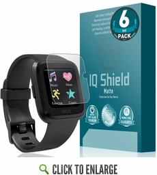 Fitbit Versa Matte Screen Protector 6-Pack (Updated Design)