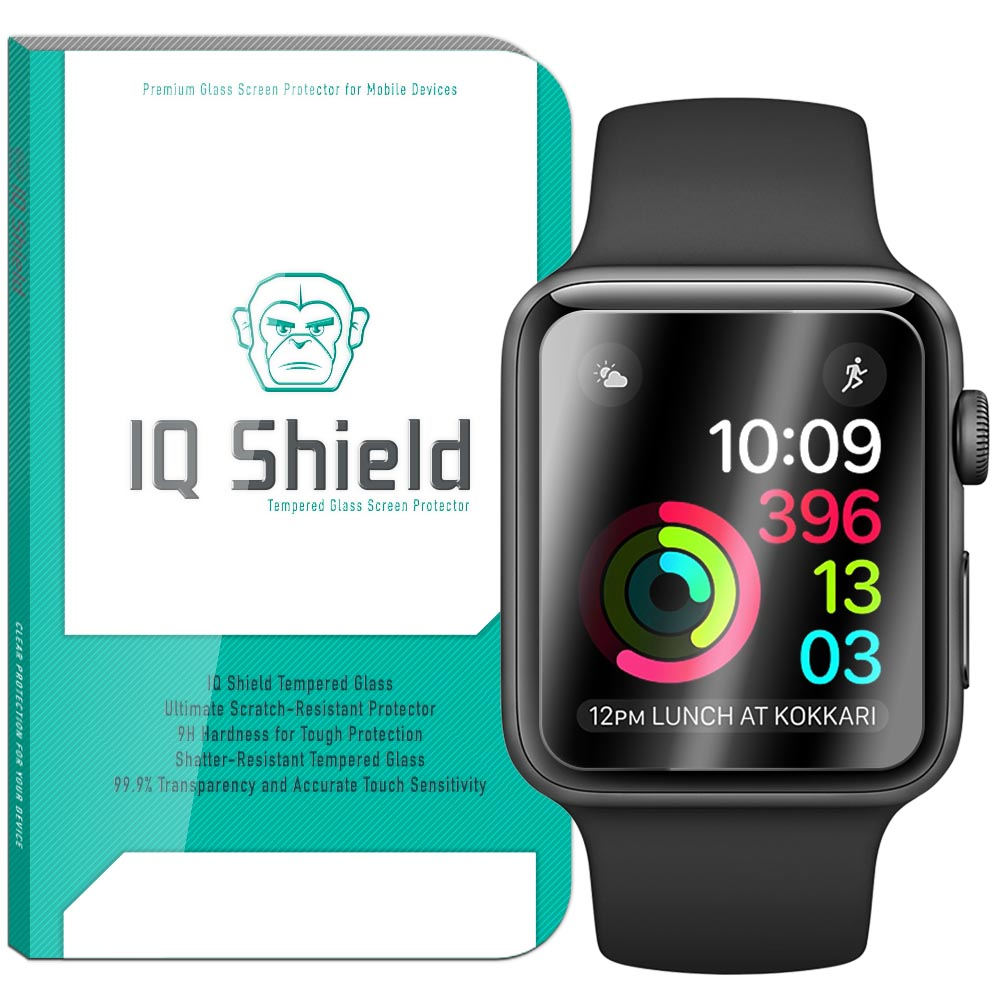 separation shoes 93dd4 162d7 IQ Shield® Tempered Glass – Apple Watch Series 2 38mm Glass Screen  Protector (3-Pack)