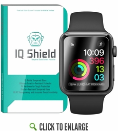 IQ Shield® Tempered Glass – Apple Watch Series 2 38mm Glass Screen Protector (3-Pack)