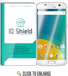 IQ Shield Tempered Glass – Samsung Galaxy S7 Glass Screen Protector