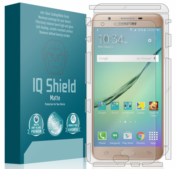 IQ Shield Matte - Samsung Galaxy On Nxt Full Body Skin Protector