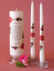 """1 Corinthians 13:4-7 Unity Candle 3x9 & 12"""" Tapers"""