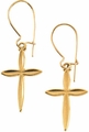 14K Gold Cross Earrings - White or Yellow Gold
