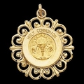 14K Gold First Holy Communion Medal