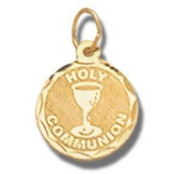 14K Gold Holy Communion Medal