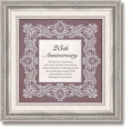 25th Anniversary Framed Tabletop Christian Verse