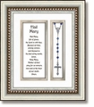3D Rosary Hail Mary Framed Wall Decor