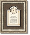 50th Anniversary Framed Wall Clock by Heartfelt