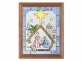 A Christmas Nativity Scene Stained Glass Art